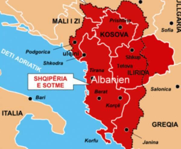 Si u tkurr Shqipëria etnike nga 92 mijë kilometra katrorë në 28.000