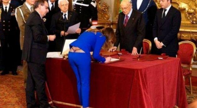 Ministrja italiane dhe veshja e saj ekstravagante