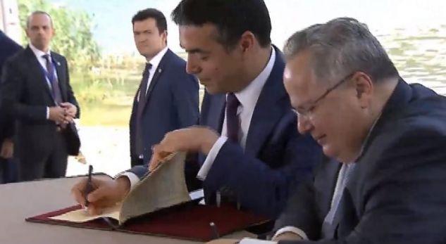 Nënshkruhet Marrëveshja për emrin në mes Maqedonisë dhe Greqisë