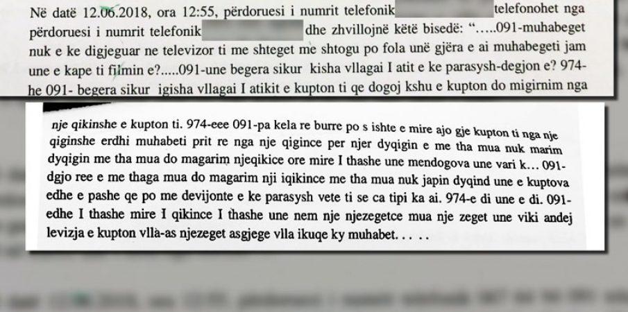 """""""Babalja"""", 200 mijë euro; Përgjimet: Alizoti pranon se u shtir si Xhafaj"""