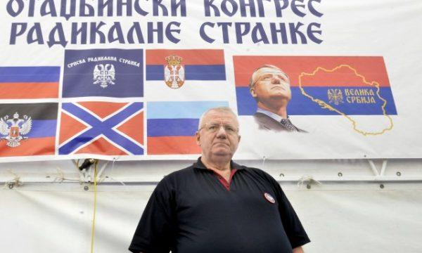 Kongresi i Radikalëve Serbë zgjedh Sheshelin kryetar dhe bën thirrje për luftë