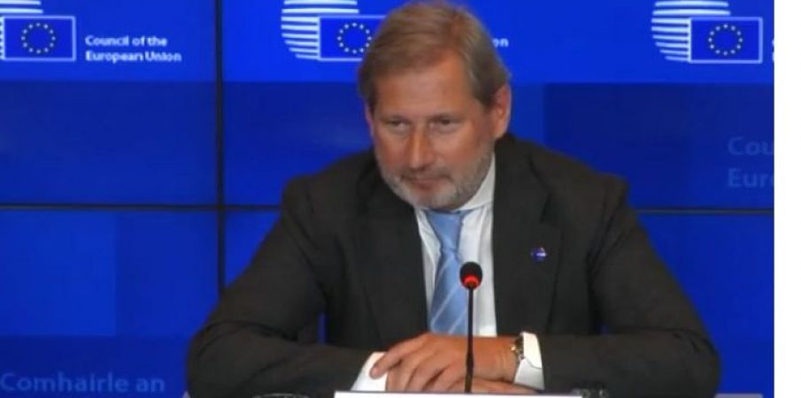 """""""S'ka hapje negociatash për Shqipërinë"""", Hahn: Duhet shumë kohë"""