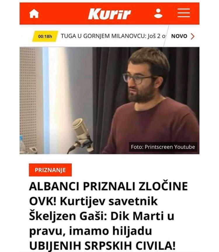Këshilltari i Albin Kurtit më i zi se njerëzit e Sllobodan Millosheviqit!