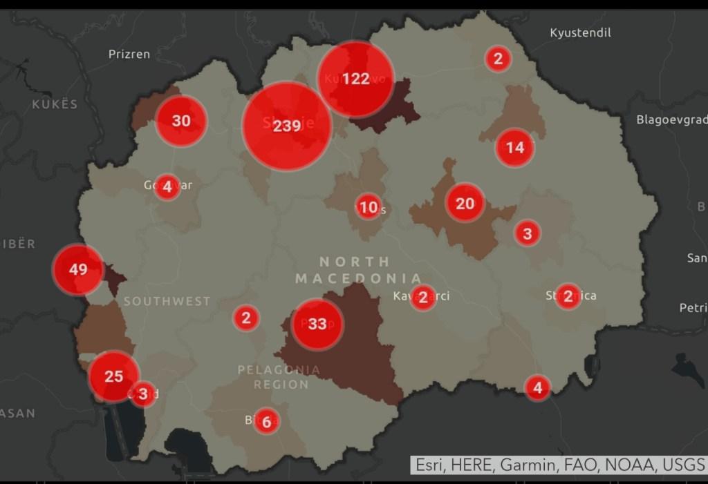 Koronavirusi në Maqedoni, vetëm 5 raste të reja gjatë 24 orëve, dy të vdekur dhe 95 të shëruar