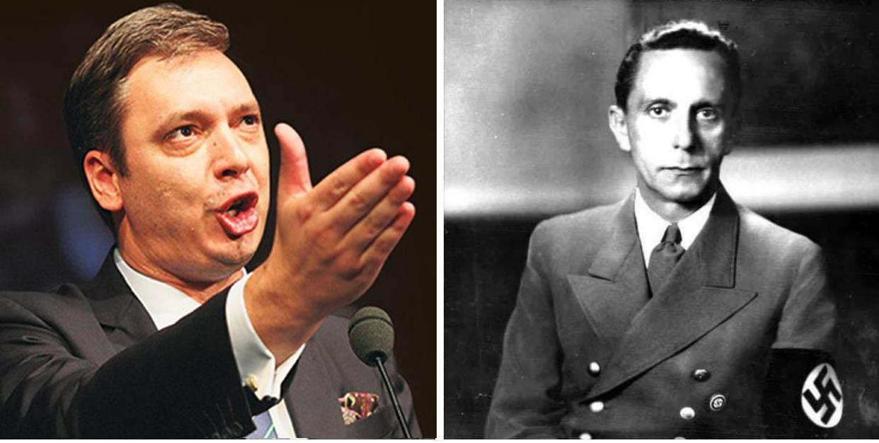 Hapja e negociatave për integrim e Serbisë së udhëhequr nga Aleksandar Vuçiqi- Goebbelsi i Ballkanit, është kompromisi më i madh i Bashkimit Europian.